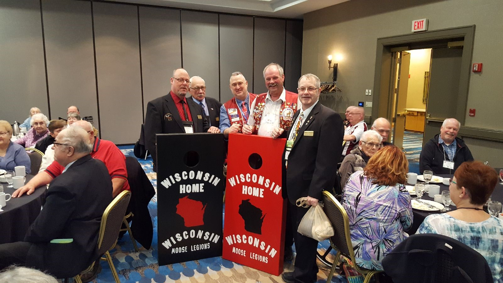 The Moose Legions of Wisconsin Donate Bags Board to the Wisconsin Home