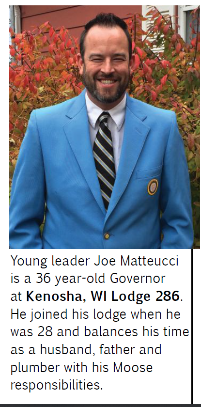 Kenosha, WI Governor Matteucci Brings Younger Ideas to Lodge