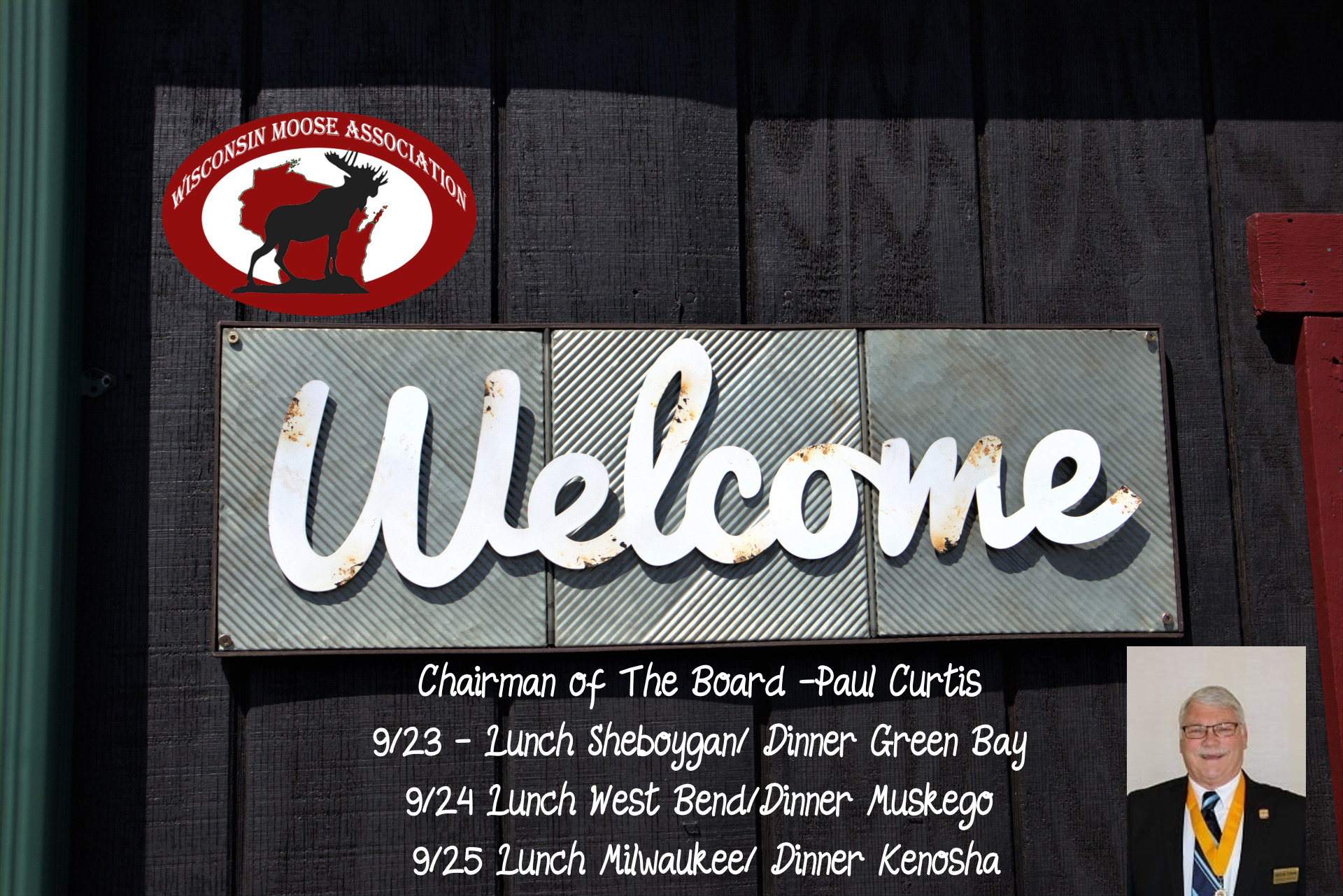 Chairman of The Board -Paul Curtis -Visits – September 23-25